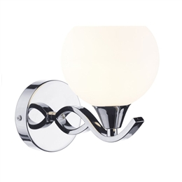 Dar Lighting Aruba ARU0750 Polished Chrome Wall Light.