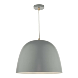 Dar Lighting BAJ8639 Baja Large Grey Pendant