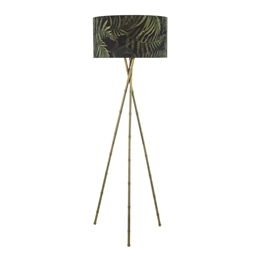 Dar Lighting BAM4975 Bamboo Floor Lamp Base in Antique Brass finish