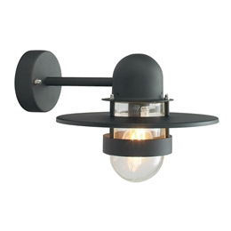 Elstead Norlys BERGEN BLACK Exterior Wall Light.