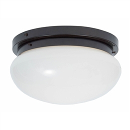 Kansa BOWL6334 Flush Ceiling light in Antique finish.