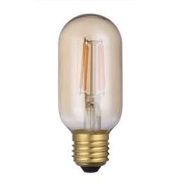 Dar Lighting BUL/E27/LEDV/8 E27 4W LED Dimmable Vintage Valve Lamp
