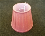 Replacement Pink Pleated Small Lamp Shade.