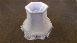 Replacement Candle Shade In Blue Fabric With Tassels