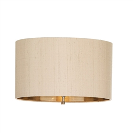 David Hunt Lighting CAI1601/BZ Caiman Silk Shade with Bronze Laminate