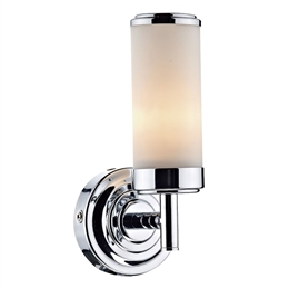 Dar CEN0750 Century 1 Light Polished Chrome Wall Light..