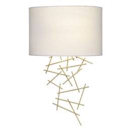 Dar CEV0735 Cevero Wall Light in Gold Leaf Finish with Shade