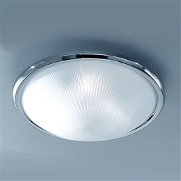 Franklite CF5017 Flush Ceiling Light with Frosted Glass