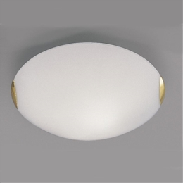 Franklite CF5023 2 light Gold And Opal Glass Ceiling Fitting