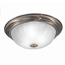 Franklite CF5644 3 Light Flush Fitting in Bronze Finish.
