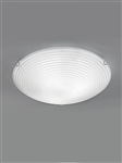 Franklite CF5667 3 Light Flush Ceiling Fitting with Frosted Glass.