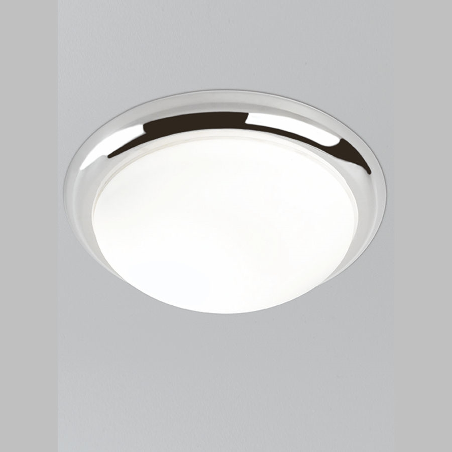 Franklite cf5741 3 light flush ceiling light in chrome finish