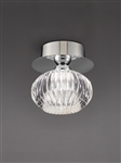 Hull Lighting CF5749 Tizzy 1 Light Flush Fitting in Chrome finish with clear glass.