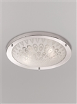 Franklite CF5751 Bathroom Ceiling Light with Frosted Glass