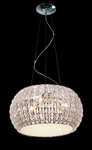 IMPEX CFH905262/06/CLR/CH Rome 6 Light Crystal Pendant.