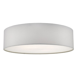 Dar CIE5015 4 Light Flush Ceiling Fitting with an Ivory Drum shade