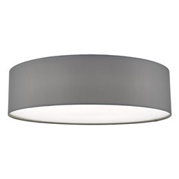 Dar CIE5039 4 Light Flush Ceiling Fitting with a Grey Drum shade