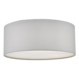 Dar CIE5215 3 Light Flush Ceiling Fitting with an Ivory Drum shade