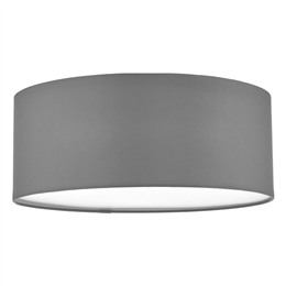 Dar CIE5239 3 Light Flush Ceiling Fitting with a Grey Drum shade
