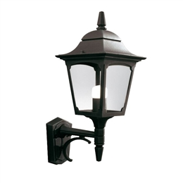 Elstead CP1 BLACK Chapel Up Pointing Wall Lantern
