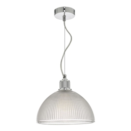 Dar Lighting CYT0108 Cytheria Glass Pendant with Chrome finish