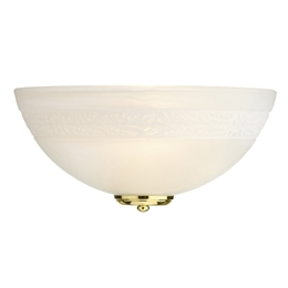 Dar DAM072 Damask Wall Light with Polished Brass trim
