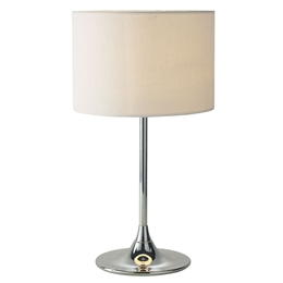 Dar Lighting DEL4250 Delta Table Lamp with Ivory Shade