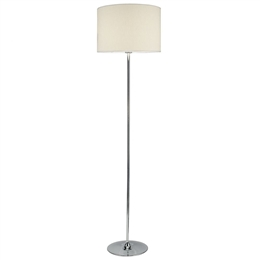 Dar Lighting DEL4950 Delta Floor Lamp with Ivory Shade