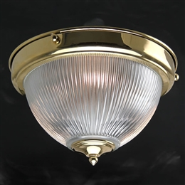 Kansa DOME632 Prismatic Dome Flush Light with Clear Glass
