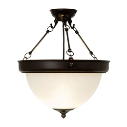 Kansa DOME6356 Dome Uplighter with Etched Glass Shade