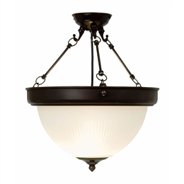 Kansa DOME6359 Dome Uplighter with Etched Glass Shade