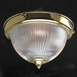Kansa DOME646 Prismatic Dome Flush Light with Clear Glass