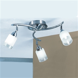 Franklite Lighting DP40023 Campani Satin Nickel and Chrome Ceiling Light.