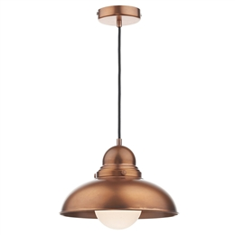 Dar DYN0164 Dynamo 1 light Antique Copper Pendant