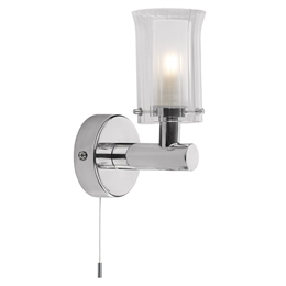 DAR ELB0750 Elba Single Bathroom Wall Light in Polished Chrome finish