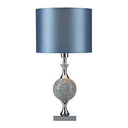 Dar ELS4223 Elsa Blue and Chrome Table Lamp