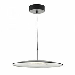 Dar ENO0122 Enoch LED Pendant in Black and Satin Chrome finish