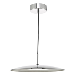 Dar ENO0150 Enoch LED Pendant in Polished Chrome finish