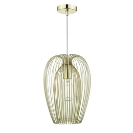Dar Lighting ERO0135 Ero Gold Wire Pendant