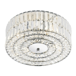 DAR ERR5250 Errol 4 light Crystal Semi Flush fitting