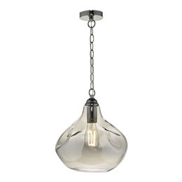 Dar Lighting ESA0110 Esarosa Smoked Glass Pendant