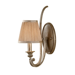 Elstead FE/ABBEY1 Abbey Silver Sand Wall Light