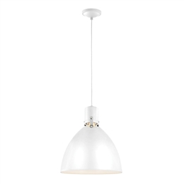 Elstead FE/BRYNNE/P FWH Brynne 1 Light LED Pendant in White finish