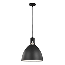 Elstead FE/BRYNNE/P MB Brynne 1 Light LED Pendant in Black finish