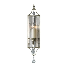 Elstead FE/GIANNA1 Gianna Single Light Wall Light in Gilded Silver finish