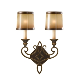 Elstead FE/JUSTINE2/B Justine 2 Light Wall Light