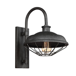 Elstead FE/LENNEX1 1 Light Wall Light in Slated Grey Metal finish