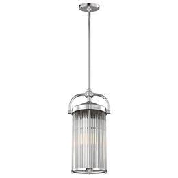 Elstead FE/PAULSON/3P 3 Light Pendant in Polished Chrome finish