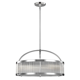 Elstead FE/PAULSON/6P 6 Light Pendant in Polished Chrome finish
