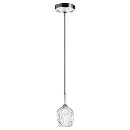 Elstead FE/RUBIN/MP Rubin Single Pendant in Polished Nickel finish